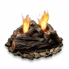 Real Flame Fire Pit - shop real flame oak concrete gas fire pit log set at lowes com