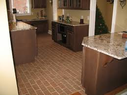 captivating kitchen floor design ideas tiles kitchen floor tile full size of kitchen design floor ideas with brown thin brick tile and granite countertops industrial