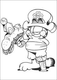 garfield pirate coloring free printable coloring pages