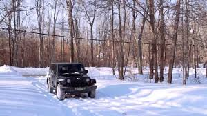 how to drive your jeep wrangler with 4wd in the snow youtube