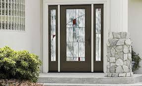 Fiberglass Exterior Doors With Sidelights Fiberglass Entry Doors Therma Tru From Doors For Builders Inc