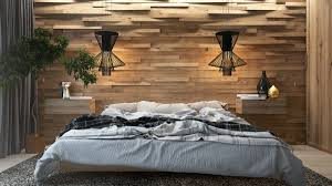 wall theme 7 the best bedroom theme with creative wood wall decoration