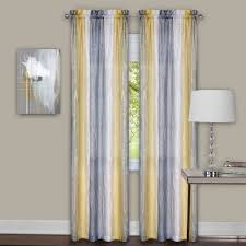 Ombre Window Curtains Sacada Crushed Gray And Yellow Ombre Curtains