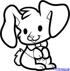 cute easter bunny drawings u2013 happy easter 2017