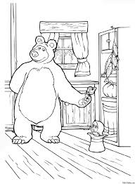 13 printable masha bear coloring pages print color craft