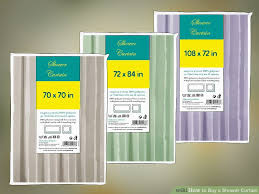 How Much Fabric To Make A Shower Curtain How To Buy A Shower Curtain 11 Steps With Pictures Wikihow