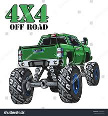 monster truck extreme racing games cartoon monster truck extreme sports vector stock vector 570340732