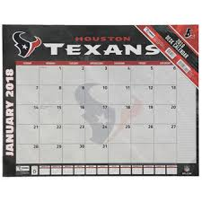 Flat Desk Calendar Houston Texans Home Decor Texans Furniture Texans Office Supplies