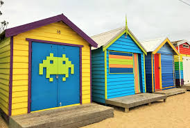 brighton beach bathing boxes melbourne by nikki lee