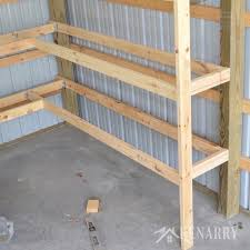Wood Storage Shelves Plans by Diy Corner Shelves For Garage Or Pole Barn Storage Diy Corner