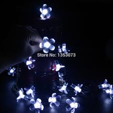 Solar White Christmas Lights by Aliexpress Com Buy 7m 50leds Sakura Flower Solar Lights String