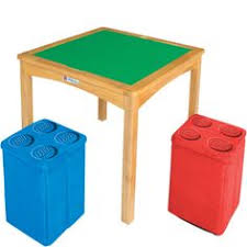 imaginarium lego table with 2 storage ottomans espresso toys r