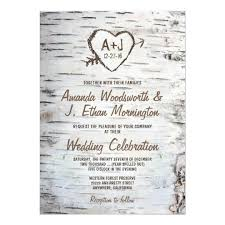 country rustic birch tree bark wedding invitations zazzle