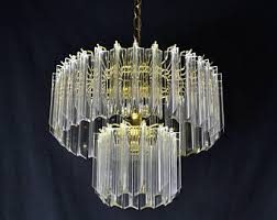 Chandelier Swag Lamp Lucite Chandelier Etsy