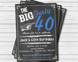 40th birthday invitation man or woman surprise birthday