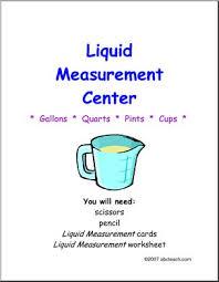 cup pint quart gallon worksheet liquid measurement u s on practice abcteach