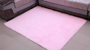 Light Pink Area Rugs Light Pink 120x160cm Anti Skid Soft Fluffy Shaggy Area Rug Dining