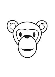 coloriage tête de singe img 17553