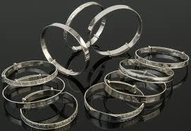 make silver bracelet images Sterling silver christening bangles expanding bracelets silver pen jpg