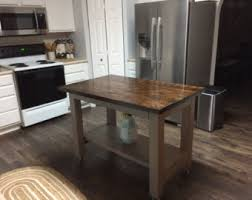 rustic kitchen island kitchen island etsy