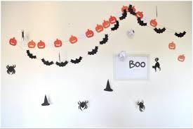 halloween decorations budget creepy pumpkins u0026 bats wall garland
