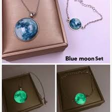 blue moon necklace images Blue moon necklace shopee philippines
