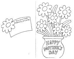 greeting card for mothers day coloring page sunday school