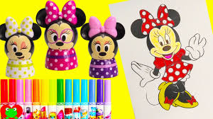 disney minnie mouse coloring page with lip balms shopkins season 6