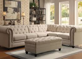 Chenille Sectional Sofas by Top Grain Leather Sectional Sofas With Tufted Seat And Lift Up