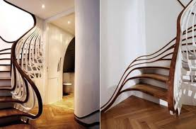 Curved Stairs Design Funky Wooden Stairs Room Decorating Ideas Prefab Stairs Stair