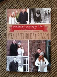 christmas card pregnancy announcement our family is growing by