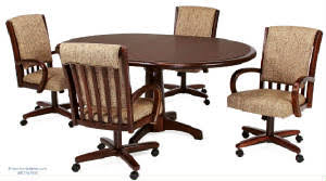 Dining Table And Chairs On Wheels Swivel Tilt Dining Chairs And Table Sets