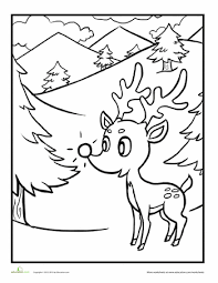rudolph red nosed reindeer reindeer red u003cbr u003e worksheet