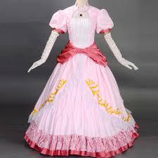 Peach Halloween Costume Compare Prices Princess Peach Dress Shopping Buy