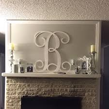 Monogrammed Home Decor Painted Wooden Monogram Letters Wall Hanging Home Decor
