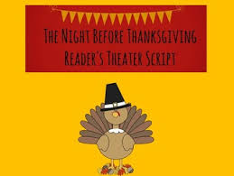 reader s theater script the before thanksgiving by library world