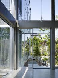 open garden house upper floor interior built near transparency