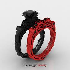 black rings images London exclusive caravaggio 14k black and red gold 1 25 ct jpg