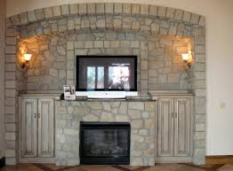 stone fireplace mantels with tv fireplace surround ideas diy