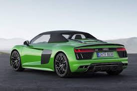 audi r8 headlights audi r8 spyder v10 plus debuts promises 0 to 100 kmph in 3 3 seconds