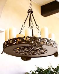 Real Candle Chandelier Lighting Chandelier Hanging Candle Non Electric Real Crystal Throughout