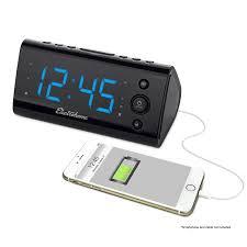 usb charging alarm clock radio electrohome