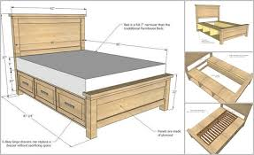 Platform Bed With Storage Building Plans by Diy Farmhouse Storage Bed With Storage Drawers Storage Drawers
