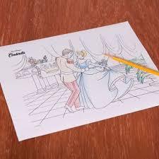 cinderella ballroom coloring disney family