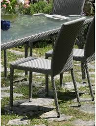 chaise tress e chaise de jardin deauville en résine tressée hedone
