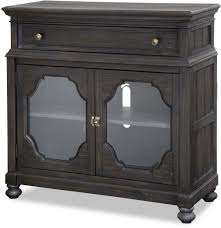 Bedroom Set With Media Chest Bedford Corners Black Panel Storage Bedroom Set From Magnussen