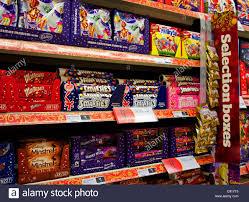 christmas chocolates christmas chocolates in a uk supermarket stock photo 39995793 alamy