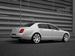 bentley continental flying spur rear 2009 project kahn pearl white bentley flying spur rear and side