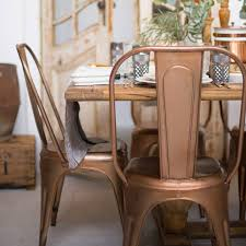 Copper Dining Room Table A Copper Or Brass Industrial Dining Chair Industrial Chair