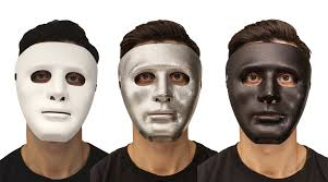 diy mask hand painted white face mask halloween masquerade party